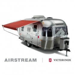 Victorinox, Swiss Army Knife manufacturer, and Airstream have collaborated on a specially designed 125th anniversary edition trailer, limited to 125 editions and cost approx $60k. Complete with lots of goodies.
