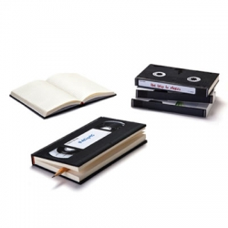 Retro VHS notebooks to record your thoughts, travel notes, recipes etc.