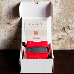 Viewmaster as Wedding Invitations ~ cute trend