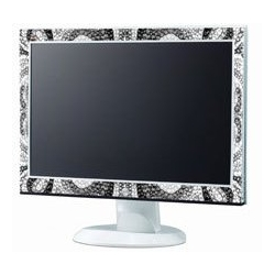 Viewsonic LCD monitor encrusted with thousands of Swarovski crytals. Bringing the bling to your home computer system.