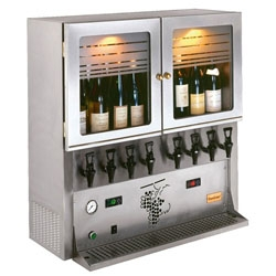 Le Vin au Verre ~ letting you have what looks like a mix between the setups at vino venue and a hi-tech kegerator?