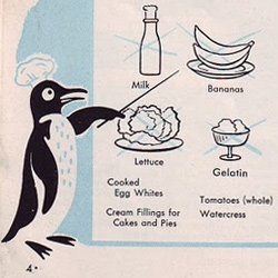A vintage penguin hands out interesting freezing advice over at Time Travel Kitchen.