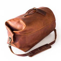 Whipping Post Military style leather duffel bag.