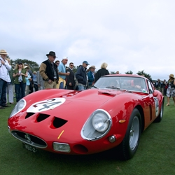 Vintage Ferraris lined the 18th hole at Pebble Beach for the Concours d'Elegance. These Italian throwbacks are simply stunning. The curves on the body and the roar from the engine and exhaust make for an unforgettable experience.