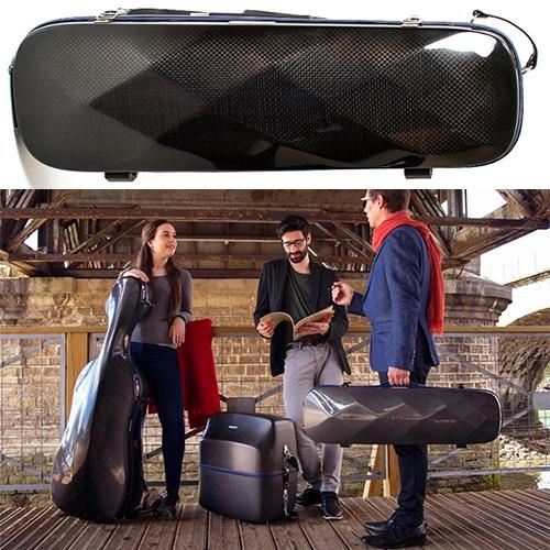 Luma Suite Carbon Fiber Instrument Cases for Violins, Cellos, and Accordions.