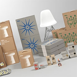 """Understated and beautiful Vitra packaging by Swedish studio BVD"" over at It's Nice That"