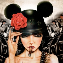 Brian Viveros has a solo show, The Dirtyland, coming up Oct 2nd at ThinkSpace ~ they give us a peek into his studio and some of the new works!