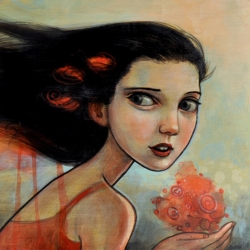 Artist Kelly Vivanco has some amazing new paintings on display in Seattle.