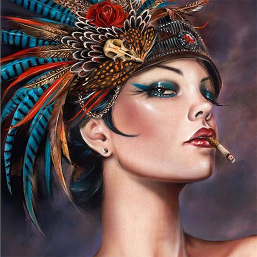 "Brian Viveros ""Viva Vaudeville"" and 'Fearless' prints available today at Thinkspace Gallery. Stunningly tempting!"