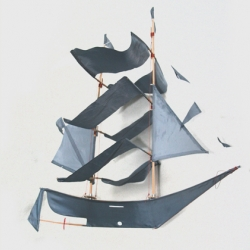 Amazing and unique kite, in the form of a Pirate Ship! For a perfect beach day or as cool decoration for your kids room. From Gray Label.