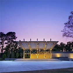 Fayetteville's new Festival Park features a very well done outdoor venue for performances. Looks perfect for a Death Cab for Cutie show!
