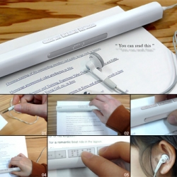 Voice Stick is an advance optical character recognition scanner designed to make all books available to the visually impaired. By Sungwoo Park