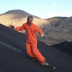 A company called Bigfoot is guiding thrill-seekers down a Nicaraguan volcano called Cerro Negro, via modified snowboards.