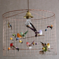 This is a light not a birdcage. Fantastical lighting from this Paris based company.