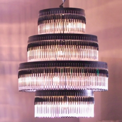 These recycled bic pen chandeliers by En Pieza look just as classy (if not classier), refract light in the most gorgeous way, AND are far more creative and eco-friendly than their staid crystal counterparts. What more could you ask for in a chandelier?