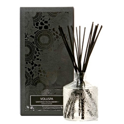 Gorgeous packaging for this Voluspa Japonica scented oil diffuser.. and the diffuser  bottle is probably the prettiest one I've seen.  (check out more of their beautiful packaging at voluspacandles.com)