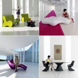 Karim Rashid has designed a number of new pieces for Spanish furniture manufacturer VONDOM.