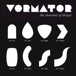 Graphic Designers have until Dec 1st to submit their design made from these shapes for the upcoming  VORMATOR collaborative book.