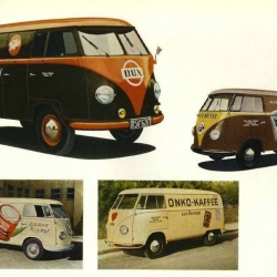 A HUGE (4 pages of tiny thumbs) archive of logos painted on the sides of VW buses!