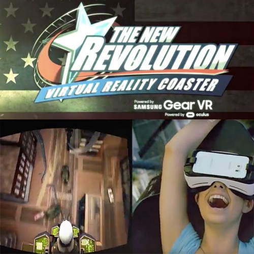 Six Flags Magic Mountain (with Samsung Gear VR and Occulus) announces a dedicated Virtual Reality Roller Coasters that allow you enter a virtual world with high-resolution imagery and 360-degree views that synchronize to the action of the coaster.
