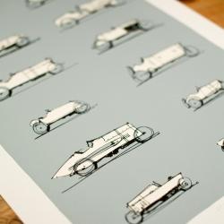 Vintage car print by Stefan Marjoram