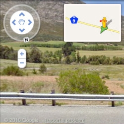 Google loves the Vuvuzela ~ when you browse South Africa on StreetView ~ the little guy has one now!