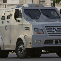 I love the design of Volkswagen's armored truck