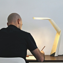 W101, the first table lamp made from paper of Claesson Koivisto Rune for Wästberg.