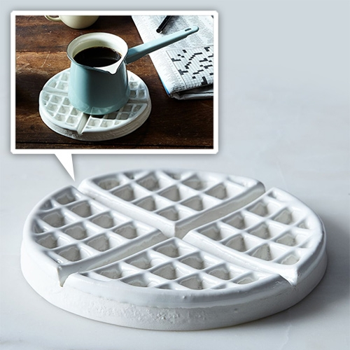 Porcelain Waffle Trivet by Candy Relics in Portland, OR at Food52