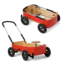 Wishbone Design's 3-in-1 Wagon - It's a car, kart, and wagon.  We couldn't stop playing with it in a store the other day - it goes from a wagon, to a wagon the kid can steer, to a car they can steer and power with their feet like the flintstones.