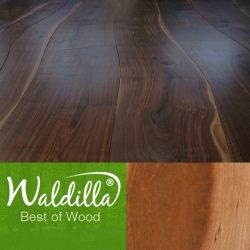 A simple way to add a nice organic touch to your home. Waldilla's wood flooring is made of subtly curved planks instead of linear straight wood planks. Available in several woods.