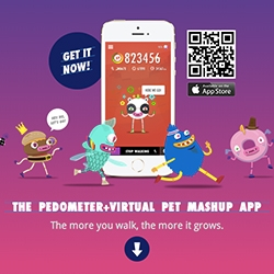 """Wokamon - virtual pet app for your phone where it only grows if you walk/exercise! """"The Pedometer + Virtual Pet Mashup App"""""""