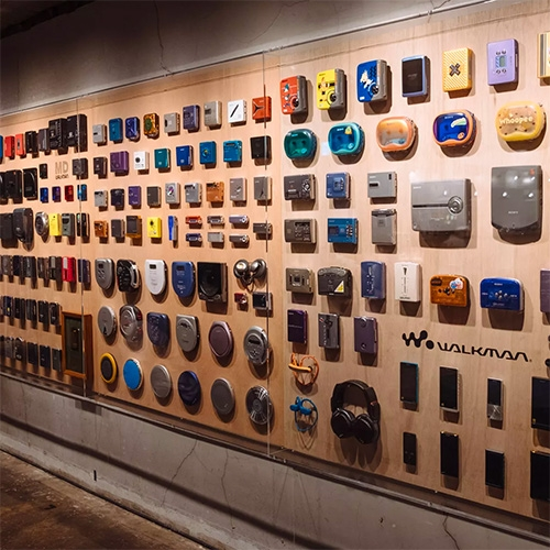 """Walkman in the Park"" exhibition at Ginza Sony Park - The Verge has a great look at the geous exhibition celebrating the Sony Walkman's 40th anniversary."