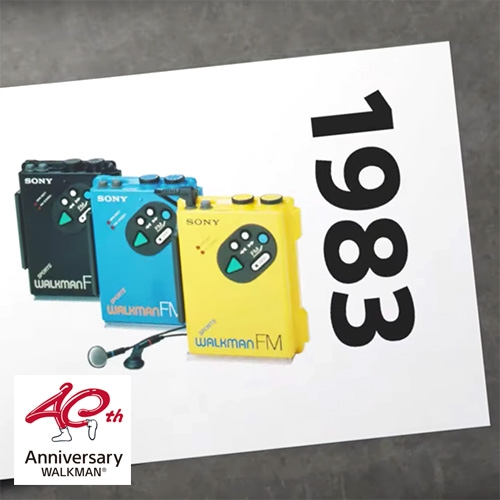 Sony's WALKMAN 40th Anniversary page has two fun videos - their Anniversary Movie as well as a Catalog of 83 iconic Walkman products from 1979-2019.
