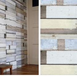 Wallpaper from Studio Ditte. Photo wallpaper of  scrap wood.