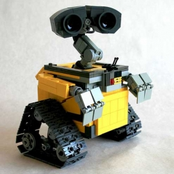 Were you thinking of building your own Wall-E (#11439) out of LEGO? Pfft. I mean, no, go ahead. Just don't ever put it next to this model by Angus MacLane, who actually helped animate the film.