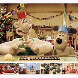 Adorable Wallace & Gromit Google+ Hangout Holiday Video!