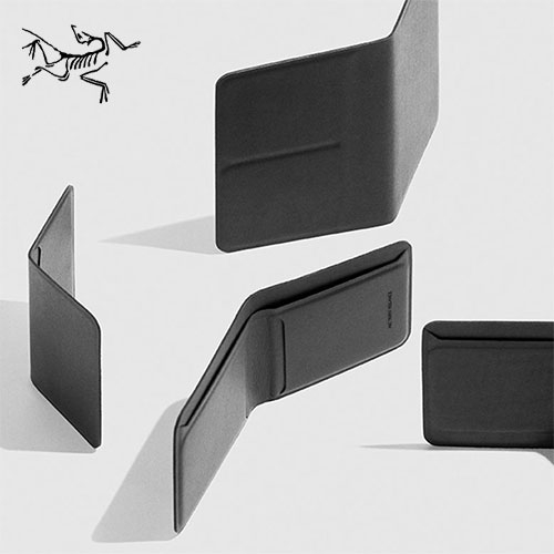ARC'TERYX Veilance durable, ultra thin casing leather goods - card wallet, billfold, and passport wallet. Slim, strong, and oh so sleek due to laminating instead of stitching the leather.