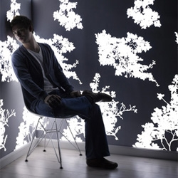 Light emitting wallpaper - beautiful and interesting design concept.