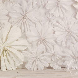 giant DIY paper flower backdrop from Ruche clothing's Spring lookbook