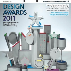 Kyle Bean designed and constructed a series of trophies for the Wallpaper 2011 Design Awards.