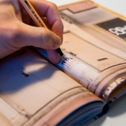 A notebook/sketchook that transforms all your doodles and notes into street art.