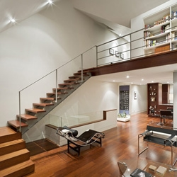 The Walmer loft by Dubbeldam Design Architects is a great example of a modern bachelor pad.