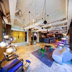 The Wanderlust Hotel in Singapore by Loh Lik Peng in collaboration with Asylum, fFurious, Phunk Studio and DP Architects. 4 design firms, 4 levels, 4 unique themes.