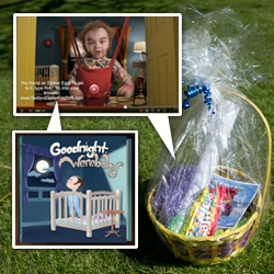 Skittles Easter Eggs ~ announced via Easter Basket! These easter eggs are digital surprises hidden in some of their Skittles Touch YouTube videos... like the Goodnight Werebaby book...