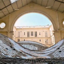 Elise Morin's Waste Landscape, an installation in collaboration with Clemence Eliard at the d'Aubervilliers in Centquarte, Paris.