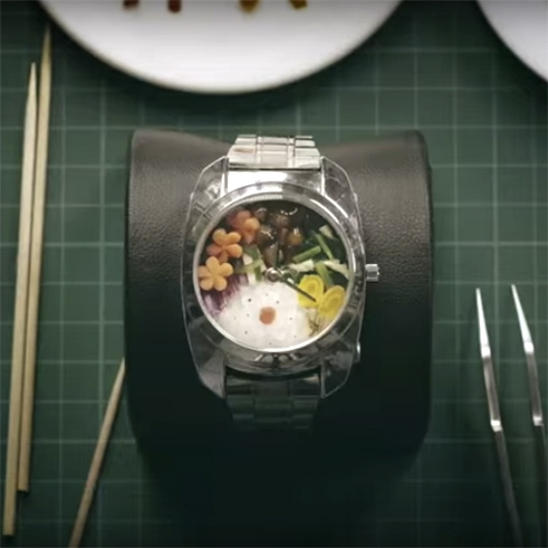Bento Watch! See how it's made in this Japanese ad.