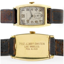 One of albert einstein's old watches are for sale...