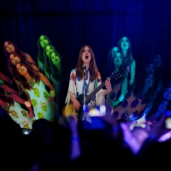 Feist played three Canadian cities at once last night, employing holographic technology.