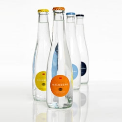 Swedish Malmberg got a nice and light bottles for their line of bottled water. The design was made by the company itself together with their bottle manufacturer.